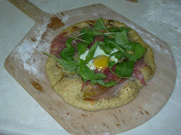 Egg, Prosciutto and Arugula