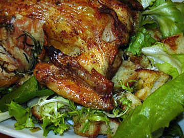 Roasted Chicken and Bread Salad